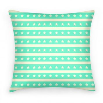 Mint Stars and Stripes Pattern