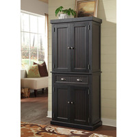 Home Styles Furniture 5033-69 Nantucket Distressed Black Pantry
