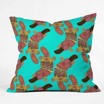 Sharon Turner Duck Billed Platypus Throw Pillow