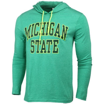 Michigan State Spartans Neon Arch Fullback Hooded T-Shirt – Green