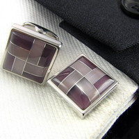 Square Cufflinks - men cufflinks - square cuff links for groom - Cufflinks for wedding - square jewel - Mens cuff links - Engagement gift