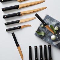 Bronzed 13-Piece Knife Block Set