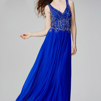 Royal Sleeveless Prom Dress 31416