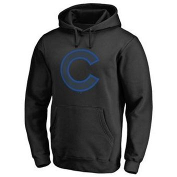 Chicago Cubs MLB Black Taylor Pullover Hoodie