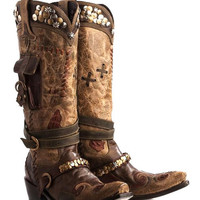 Double D Ranch Women's Frontier Trapper Cowgirl Boots
