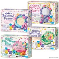 4M Make A Craft Kit Assortment - Toysmith - Pack of 12 kits