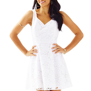 Marla V-Neck Eyelet Dress - Lilly Pulitzer