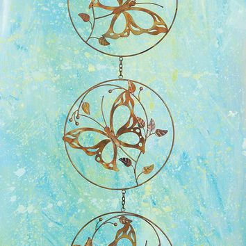 Triple Butterfly On Branch Hanging Ornament - New item! Pre-order for August!