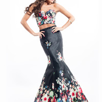 Two Piece Rachel Allan Prom Dress 7181