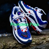 2018 New Creative Nike Air Max OG 98 Gundam Royal Blue Comet Red Black White Sneakers Sport Unisex Running Shoes 640744-064 shoe