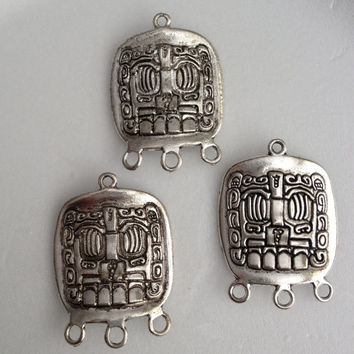 10 pcs - Antique Silve Mayan charm Pendant  - lead free, nickel free, cadmium free