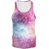 Pastel Nebula Men's Cotton Tank Top