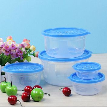 5Pcs Food Storage Clip Seal Lock Lids Containers Boxes Plastic Clear Transparent