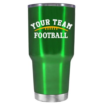 TREK Custom Football Team on Translucent Green 30 oz Tumbler Cup