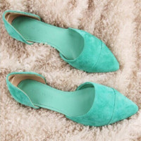 Fashion Summer Women Contracted Flat Loafers Shoes Women Mint green