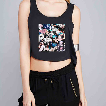 Michael Clifford 5SOS 5 Seconds of Summer for Crop Tank Girls S, M, L, XL, XXL *07*
