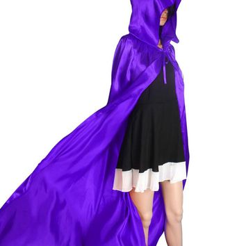 Hooded Cloak Coat Wicca Robe Medieval Cape Shawl Halloween Party S/M/L/XL FOR Sexy Women Beach Dress Cover Up