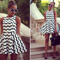 LM Boutique New Sexy Black & White Dress Medium 2 Day Free Shipping