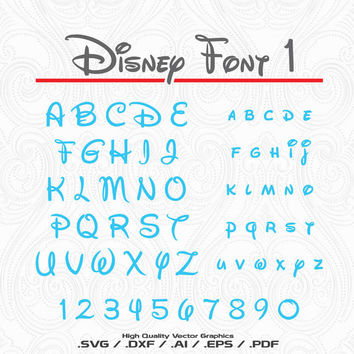 Disney Font svg file, studio3, eps, ai files - Instant Download - Disney Cut File - Monogram font - Cricut Explorer - Silhouette Cameo