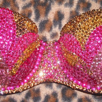 Multi Colour Flame Multiway/Strapless Bralet Any Size A-F Cups