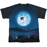 ET MOON YOUTH SHORT SLEEVE 100% POLY BLACK BACK