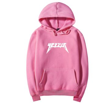 YEEZUS Fashion Casual hooded Sweater Men and Women's Clothes Pink