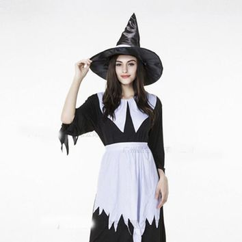 2017 Irregular Black Halloween Witch Costumes Adult The Wizard of Oz Devil Cosplay Halloween Carnival Party Fancy Dress
