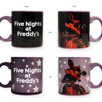 20oz Steam OFFICIAL Five Nights at Freddy's FNaF PREMIUM Foxy Heat Changing Ceramic Coffee Mug Novelty GIFT