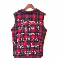 Moulin Rouge Inspired Shirt in Red Plaid Flannel