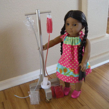 IV Cart - IV Pole - for Pet Hospital and Boarding Set for American Girl Doll or Pets
