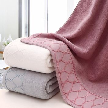 Face and Bath Towel SET 32 Strands Plain Color Water Absorbtion Cotton Jacquard for Bathroom Beach Hotel