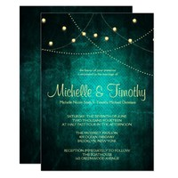Green Country Lights Wedding Invitations