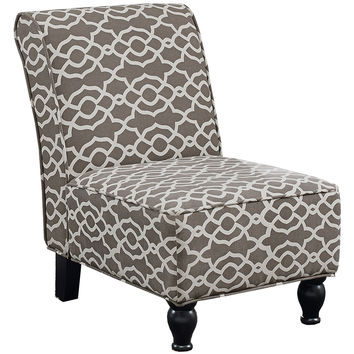 Monarch Specialties Bell Pattern Accent Chair - Brown