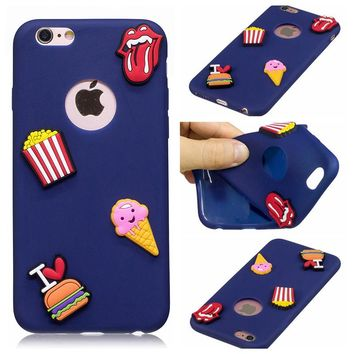 WINTMING 3D Sticker Patch Silicone Case For iPhone