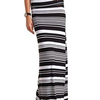 KNIT STRIPED MAXI SKIRT