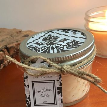 Sunflower Fields Para Soy Candle 4 oz.