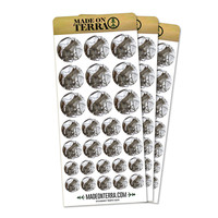 Winter Forest Tree Squirrel Removable Matte Sticker Set