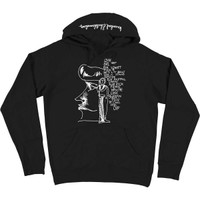 Krooked Skateboards Krooked Six Feet Pullover Hoody - Black/White