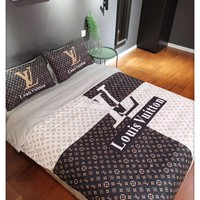 Home Decor LV Louis VUITTON Blanket Quilt coverlet Pillow shams 4 PC Bedding SET