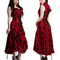JAWBREAKER ROMANTIC GOTHIC CORSET DRESS GOTH EVENING VICTORIAN PROM DRA2334