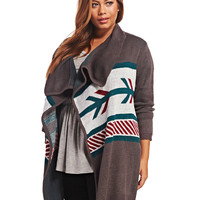 Tribal-Inspired Blanket Cardi | Wet Seal+