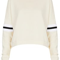 Stripe Sleeve Sweat - Jersey Tops - Clothing - Topshop USA