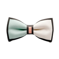 Pastel Color Block Bow-Tie