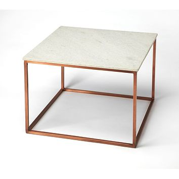 Butler Holland Marble & Metal Coffee Table