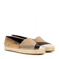 Hodgeson metallic leather and check espadrilles