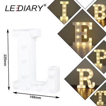 LEDIARY 26 Letters LED Atmosphere Lamp To Spell Name Word For Bar Cafe Wedding Party Alphabet Decoration Night light With Switch