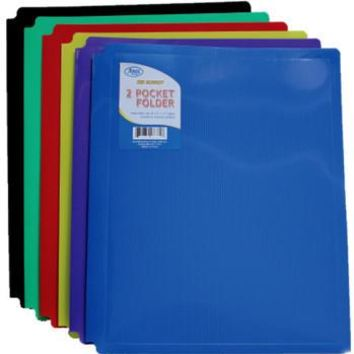 TWO POCKET SNAP IN FOLDERS- PLASTIC
