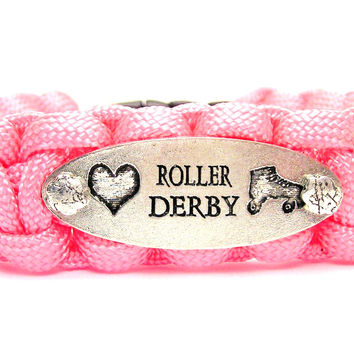 Love Roller Derby 550 Military Spec Paracord Bracelet