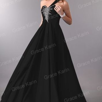 Beading Bridesmaid Chiffon Bride Prom Gown Party Formal Evening Long Maxi Dress
