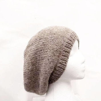 Brown slouchy hat for men or women  5096